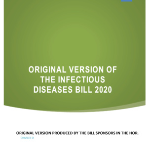 Cover for Original-CONTROL-OF-INFECTIOUS-DISEASES-BILL-2020